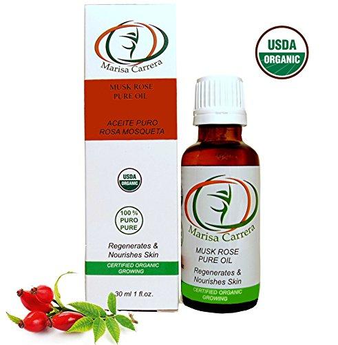 100 % Certified Organic Growing Rosehip Oil / Aceite Puro De Rosa Mosqueta 30 Ml. / 1 Fl.oz.heals Dry Skin, Fine Lines, Acne Scars, Eczema, Psoriasis, Dermatitis, Sun Damage & (Rosa Mosqueta Rose)