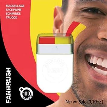 Maquillage Visage Fanbrush pour supporter Rouge / jaune , Foot espagne