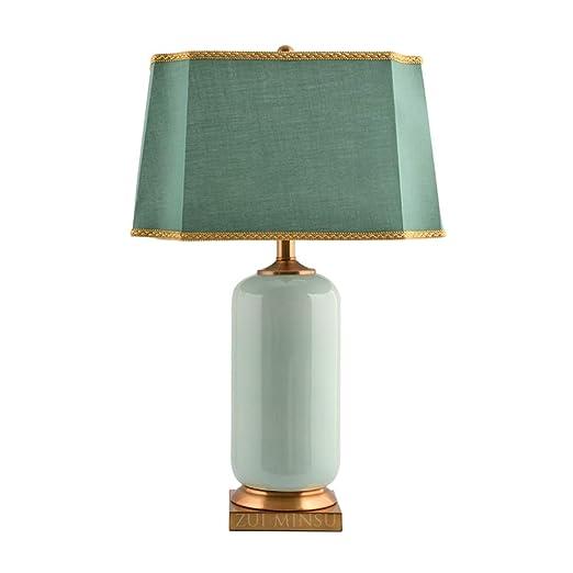 Lámpara de Cabecera Lámpara de Mesa de cerámica clásica Vintage ...
