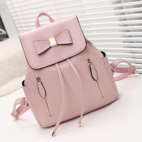 Aoligei Vêtements filles de centaines de sac à dos sac Ecole vent pu sac pompon loisirs sac A