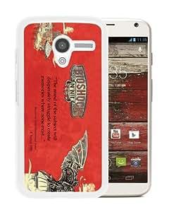 Personalization Bioshock Infinite 3 White Special Custom Made Motorola Moto X Cover Case