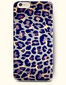 Apple iPhone 6 Case ( 4.7 inches) with Design of Black And Blue Leopard Stripe - Animal Print -OOFIT Authentic iPhone Skin