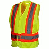 Pyramex Hi-Vis Safety Vest with Contrasting Reflective Tape