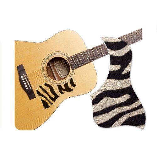 Healingshield Premium Acoustic Guitar Pickguard Style Type Zebra-A