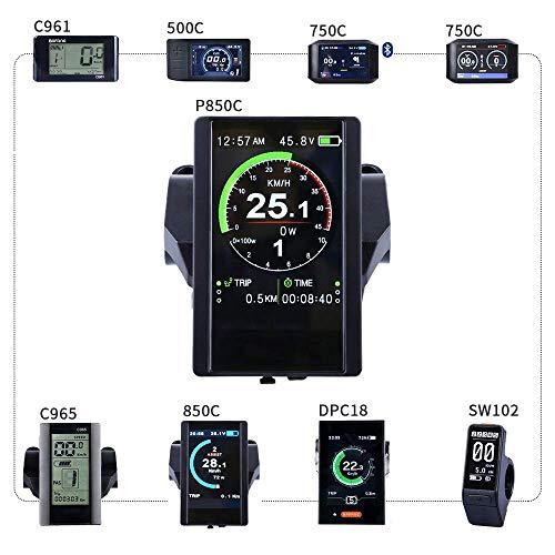 BAFANG Mid Drive Display Mid Motor Control Panel 750C 850C P850C C961 C965 C18 500C SW102 Mid Drive System (P850C Color LCD)