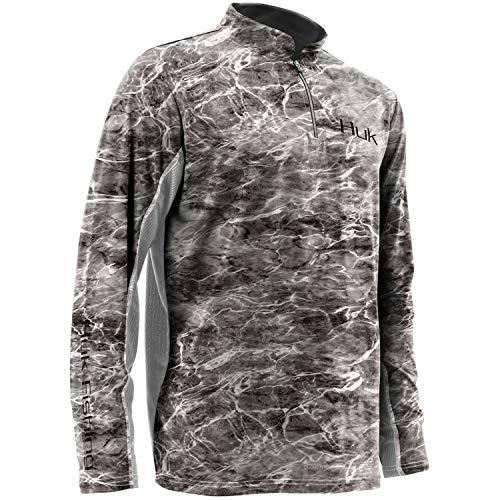 Huk Men's Elements Icon 1/4 Zip Long Sleeve Shirt,Elements Manta,Large -