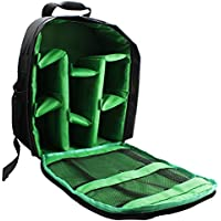 AOER Waterproof Shockproof DSLR Camera Backpack Bag Case for Canon Nikon Sony Olympus Samsung Panasonic Pentax Cameras (Green)