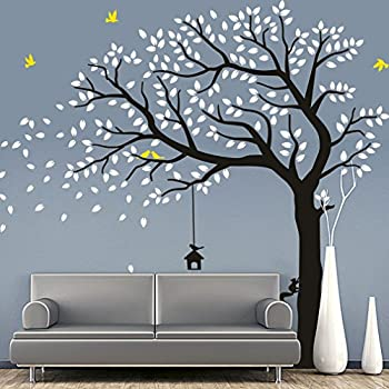 Amazoncom NSunForest Ft White Birch Tree Vinyl Wall Decals - Custom vinyl wall decals falling off