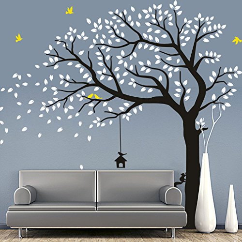 CaseFan Large Falling Tree Wall Stickers Mural Paper for Livingroom Baby Room Vinyl Removable DIY Decals 70.9x86.6