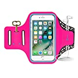 Sport Armband, Yomole Sweatproof Running Exercise Fitness Cell Phone Sportband bag with Fingerprint Touch & Key Holder & Card Slot for iPhone 7, 7 Plus 6 Plus Samsung Galaxy S8 S7 Edge Note LG (Pink)