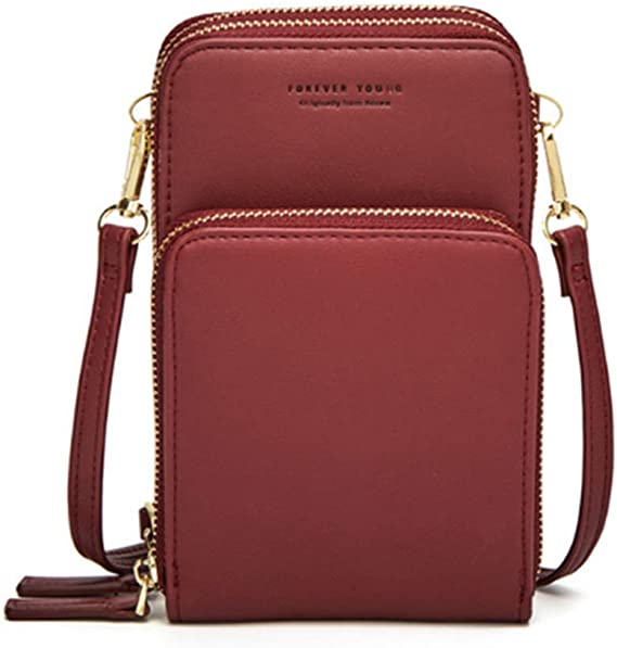 NOT Rush Small Leather Crossbody Cellphone Shoulder Bag for Womens