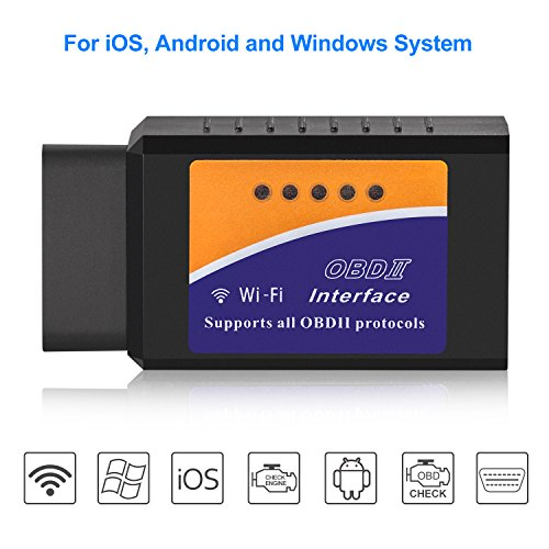 Car WiFi OBDII Scanner Eocean OBD2 Car Scan Tool OBD2 Scanner Wireless Car Coder Reader Check Engine Light Diagnostic Tool for iOS & Android