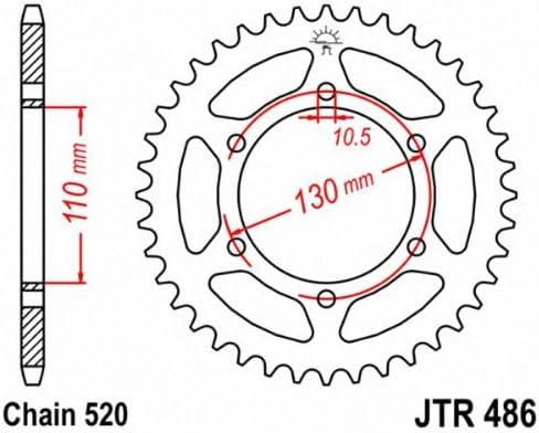 Kawasaki KX250 F YBF,YCF,ZDF-ZGF,AHF,AJF2011-2018 Rear Sprocket JTR460-50 Tooth