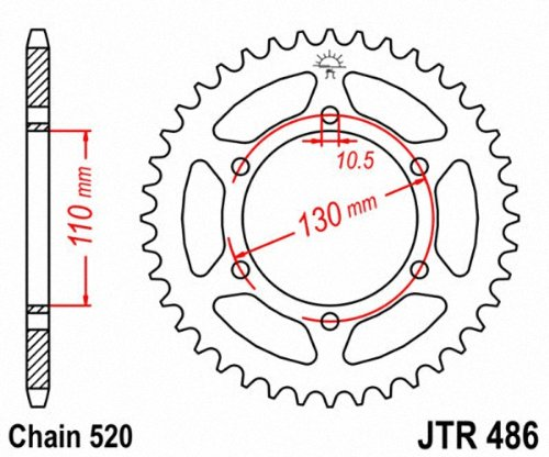 JT Sprockets JTR486.41 41T Steel Rear Sprocket