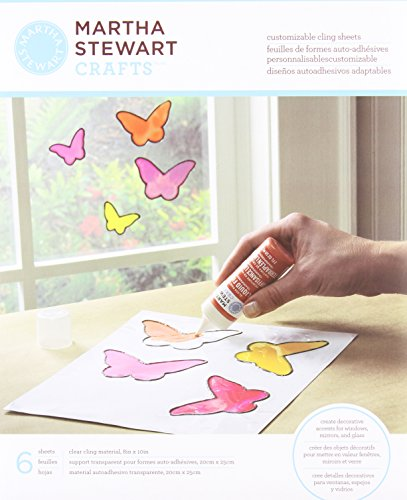 Martha Stewart Crafts Customizable Cling Sheets, (Martha Stewart Holiday Decorating)