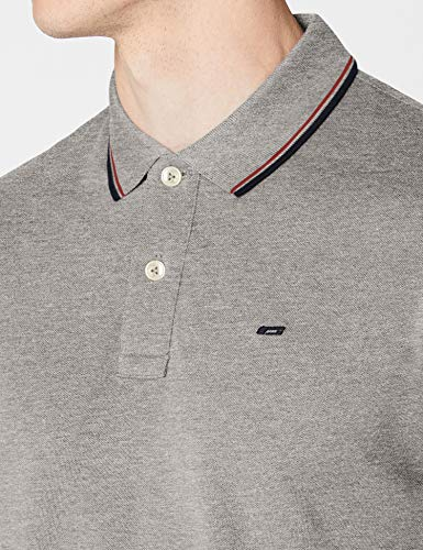 Melange light Polo Homme Noos Detail Jjecontrast Slim Fit Grey Jones Gris amp; Ss Stripe Melange Jack qP1Tn