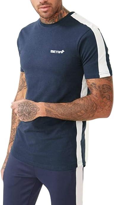 Sylar Camisetas Deporte Hombre Camisetas Hombre Manga Corta Camiseta Cuello Redondo Hombre Running Camiseta Color Sólido para Hombre Camiseta Blusa Tops: Amazon.es: Ropa y accesorios