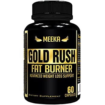 Meeka Nutrition Gold Rush Thermogenic Fat Burner Weight Loss Supplement 60 Capsules - Weight Loss - Natural Energy - Appetite Suppressant - Garcinia Cambogia, Apple Cider Vinegar, Green Tea & More