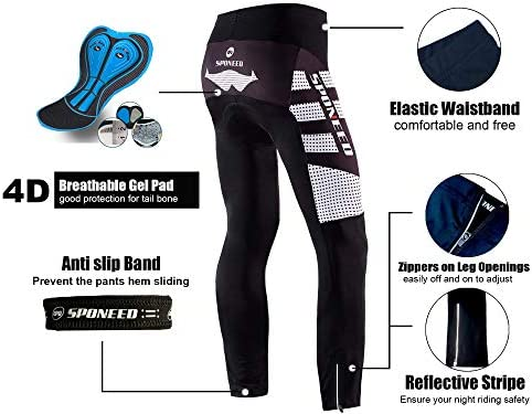 Men/'s Cycling Tights Black Bike Pants Cyclist Trousers for Spin Road Bike Biking