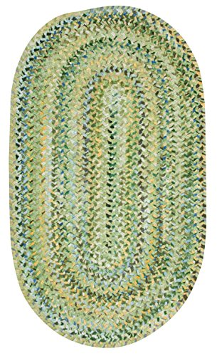 Capel Rugs Ocracoke Oval Braided Area Rug, 3' x 5', Pale Green by Capel Rugs
