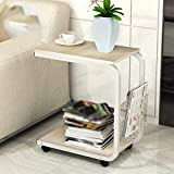 Simple modern mobile small coffee table / side cabinet partition rack / living room sofa small square table ( Color : D )