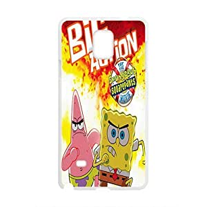 Happy SpongeBob Case Cover For samsung galaxy Note4 Case