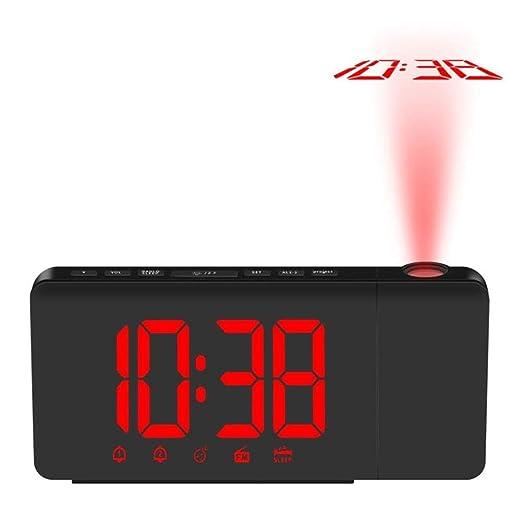 GZSC Reloj Despertador Proyección USB Reloj Despertador ...