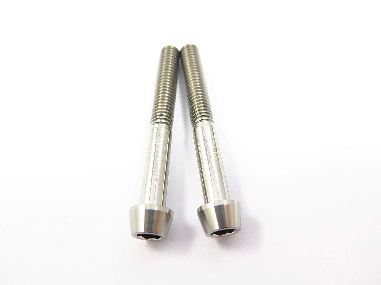 M10 x 60mm 1.5 Pitch Titanium Ti Bolt Taper Hex Allen Socket Head Screw GR5