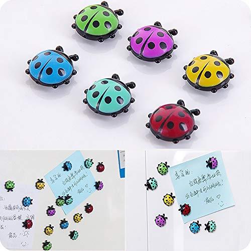 Euone Home, 6Pcs Mini Ladybug Fridge Magnets Creative Refrigerator Magnetic Stickers