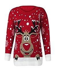 R KON Unisex Women Men Christmas Jumper Xmas Knitted Sweater TOP