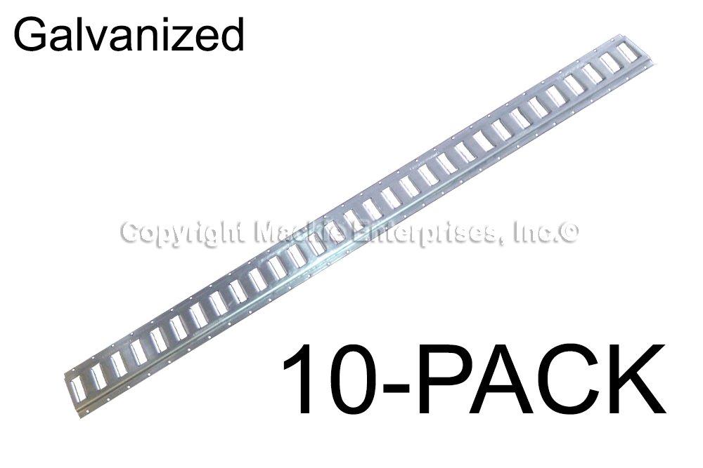 7 ft Horizontal // Trailer Tiedown E Track Galvanized 10 Pieces