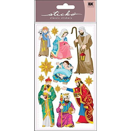 EK Success Brands Sticko Sticker, Nativity