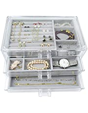Weiai Makeup Brushes Organizer Holder, 3 Compartment Acrylic Eyeliners Display   Cosmetic Storage