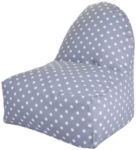 Majestic Home Goods Kick-It Chair, Ikat Dot, Gray For Sale
