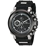BTECH Watches - Bt-Cc-312-02 Unisex Cite Analog Chronograph Casual Wrist Watch, Black Silicon Strap Band