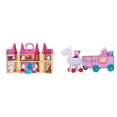 Peppa Pig Princess Castle Deluxe Playset & Peppa Princess Carriage Feature Vehicle: Toys & Games