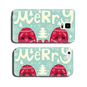 Christmas vector illustration cell phone cover case Samsung S6