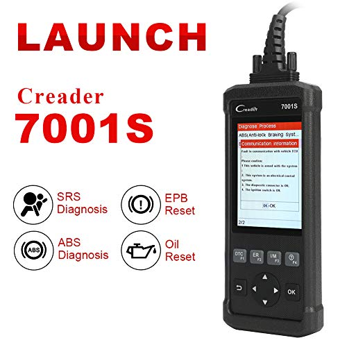 Launch OBD2 Scanner,Code Reader 7001S OBD II Scan Tool ABS SRS Diagnostic Scanner Tools with Oil Rest EPB Service,ABS Reset Service Functions. by LAUNCH (Image #1)