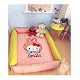 Cartoon Rabbit Kids Cotton Carpet - Thicken Edge Protection Rug Design For Child 49 x 61 x 2 Inch