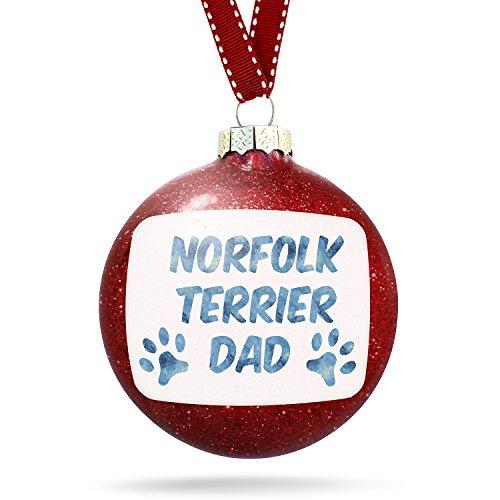 (NEONBLOND Christmas Decoration Dog & Cat Dad Norfolk Terrier Ornament)