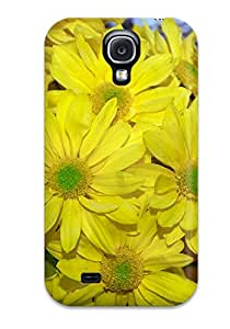 (GjZvYEC1378HerTW)durable Protection Case Cover For Galaxy S4(yellow Flowers )