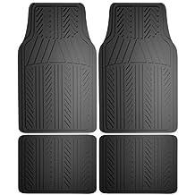 Armor All 78911 4 Piece Black Rubber Floor Mat