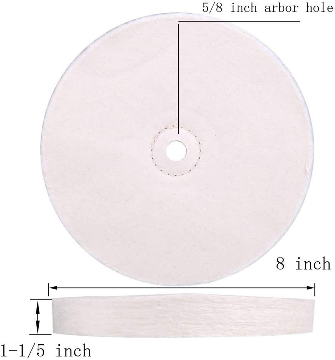 de 8 pulgadas 1 paquete Rueda de pulido pulidora de sisal cosida en espiral extra gruesa 1 pulgada