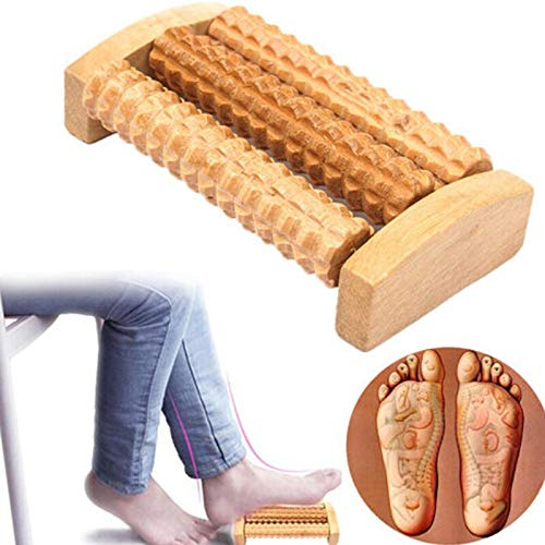AXDZ Heath Relaxation Tool Wood Roller Foot Massager Stress Relief Health Care 1PC Foot Massage Roller Relief Plantar Fasciitis Spiky Ball Stick Wooden Set