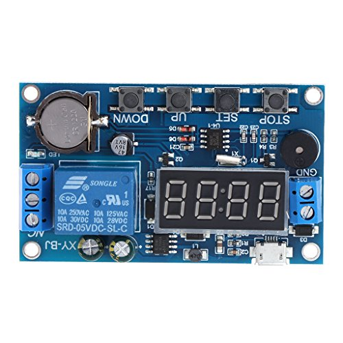 Honqaour Relay Timer Switch Trigger Cycle Timer Delay Switch 12V 24V Relay Switch Module 24H Timing Control