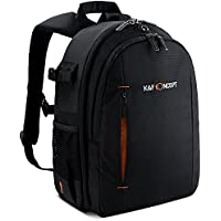 K&F Concept Professional Camera Backpack for SLR/DSLR Mirrorless Cameras (Canon Nikon Sony Pentax),Lenses, Tripod, 10 iPad and Photography Accessories with Rain Cover