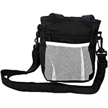 Dog Treat Training Pouch Built-in Poop Bags Dispenser, Pet Snack Bag, Puppy Training Walking Waist Pouch Bag, Easy Storage Pet Food, Snack,Toys Outdoor Training Activities(Black)