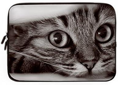 Funda para ordenador portátil, resistente funda de cuerda con diseño de gato, neopreno, 8, 12 pulgadas