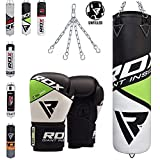 RDX Maya Hide Leather Punch Bag 4FT 5FT UNFILLED MMA Boxing Punching Gloves Muay Thai Kickboxing Training