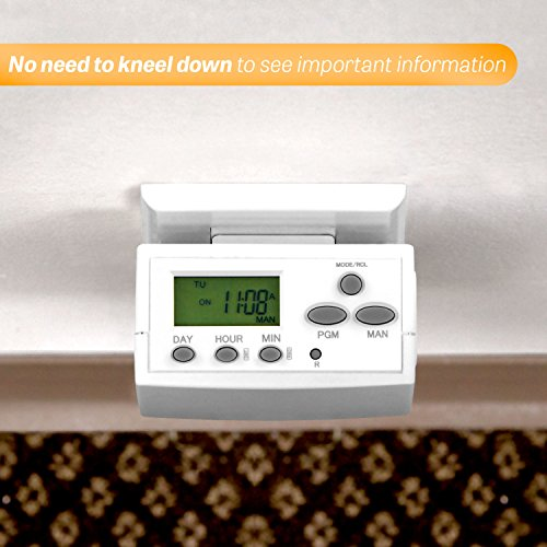TOPGREENER TGT02 7 Day Programmable Plug-In Digital Timer for Lights, Lamps, Electrical Appliances | Heavy Duty, Single Outlet, Random and Daylight Savings Time Function | 120VAC, 15A, 1800W, White